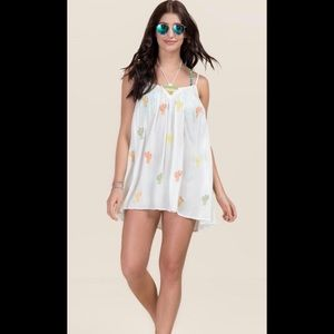 CHARLENE EMBROIDERED CACTI COVER-UP